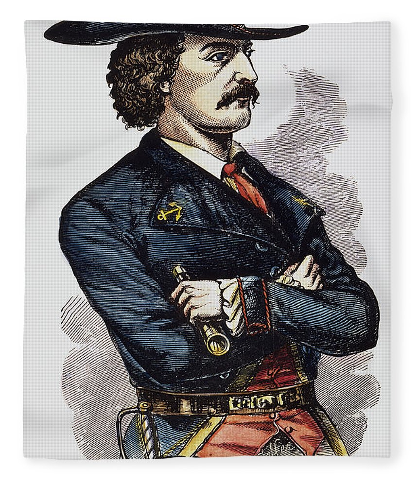 19th Century Fleece Blanket featuring the photograph Jean Lafitte (c1780-c1826) by Granger