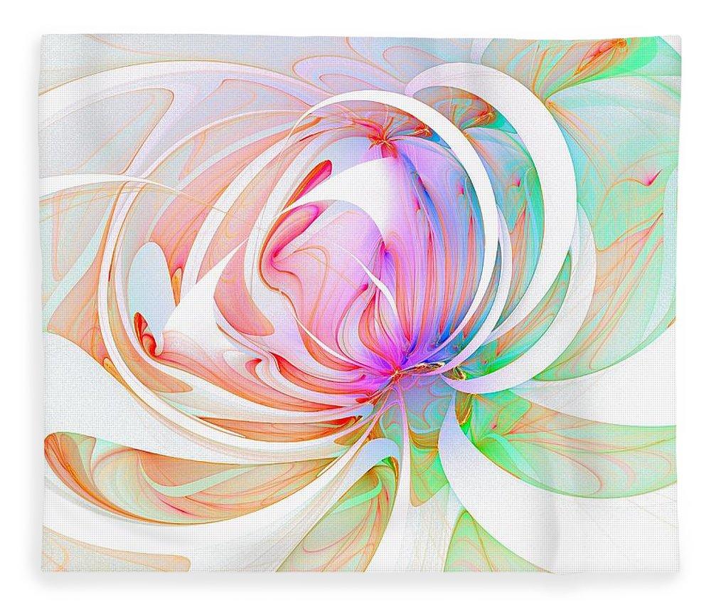 Digital Art Fleece Blanket featuring the digital art Joy by Amanda Moore