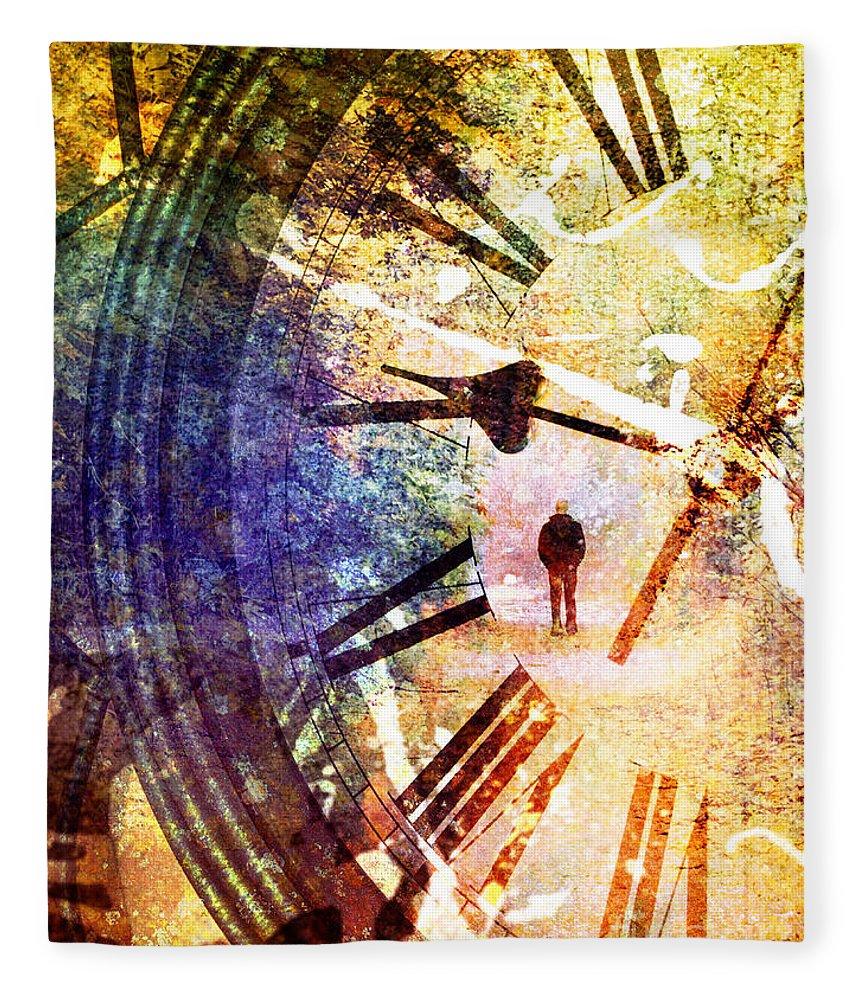 Clock Fleece Blanket featuring the photograph June 5 2010 by Tara Turner