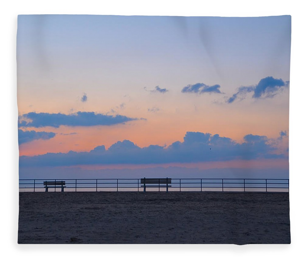 Just Fleece Blanket featuring the photograph Just Before Sunrise In Asbury Park by Bill Cannon