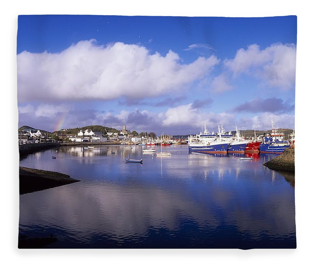 Boat Fleece Blanket featuring the photograph Killybegs, Co Donegal, Ireland by The Irish Image Collection