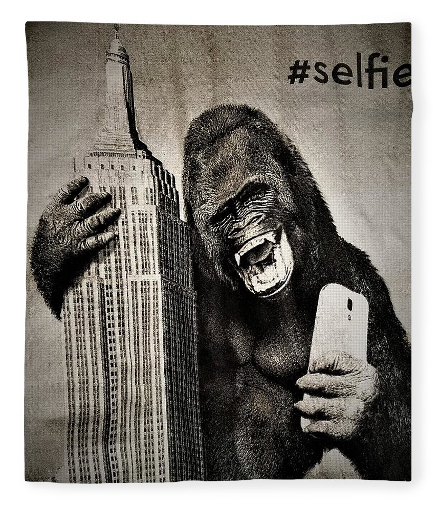 Architecture Fleece Blanket featuring the photograph King Kong Selfie by Rob Hans