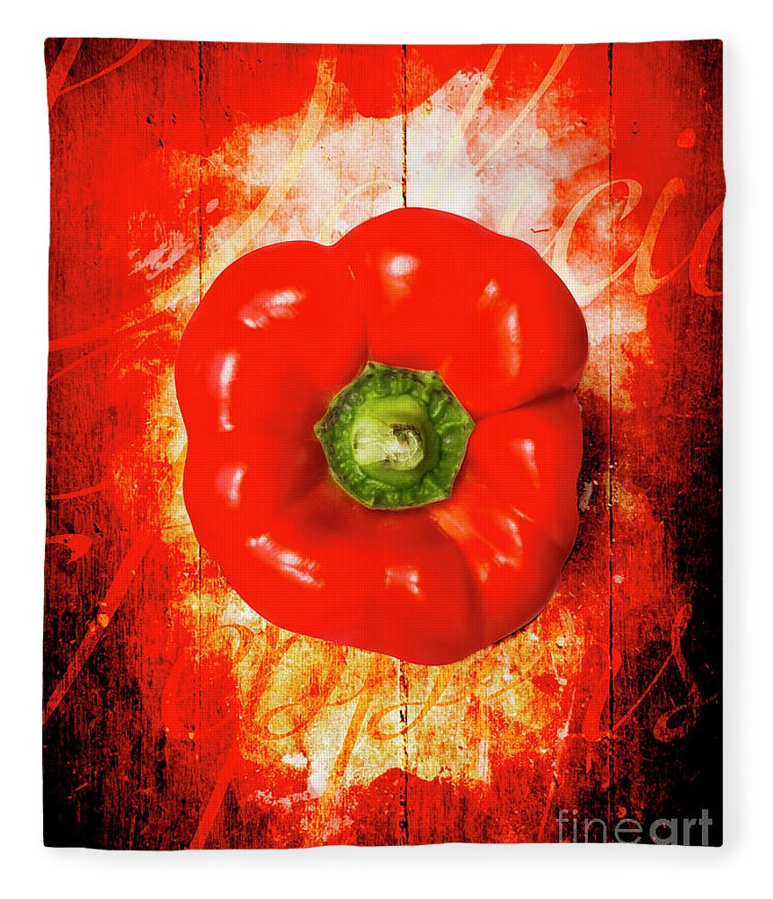 Kitchen Fleece Blanket featuring the photograph Kitchen Red Pepper Art by Jorgo Photography - Wall Art Gallery