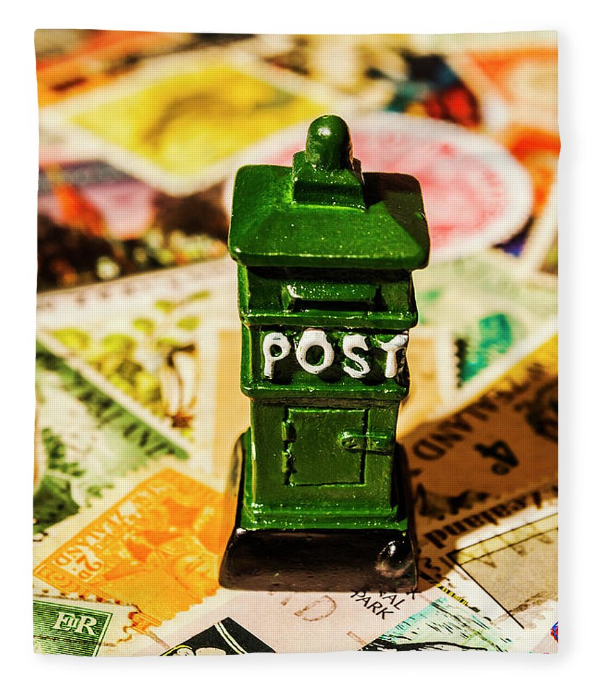 Postbox Fleece Blanket featuring the photograph Kiwi Postage Scene by Jorgo Photography - Wall Art Gallery