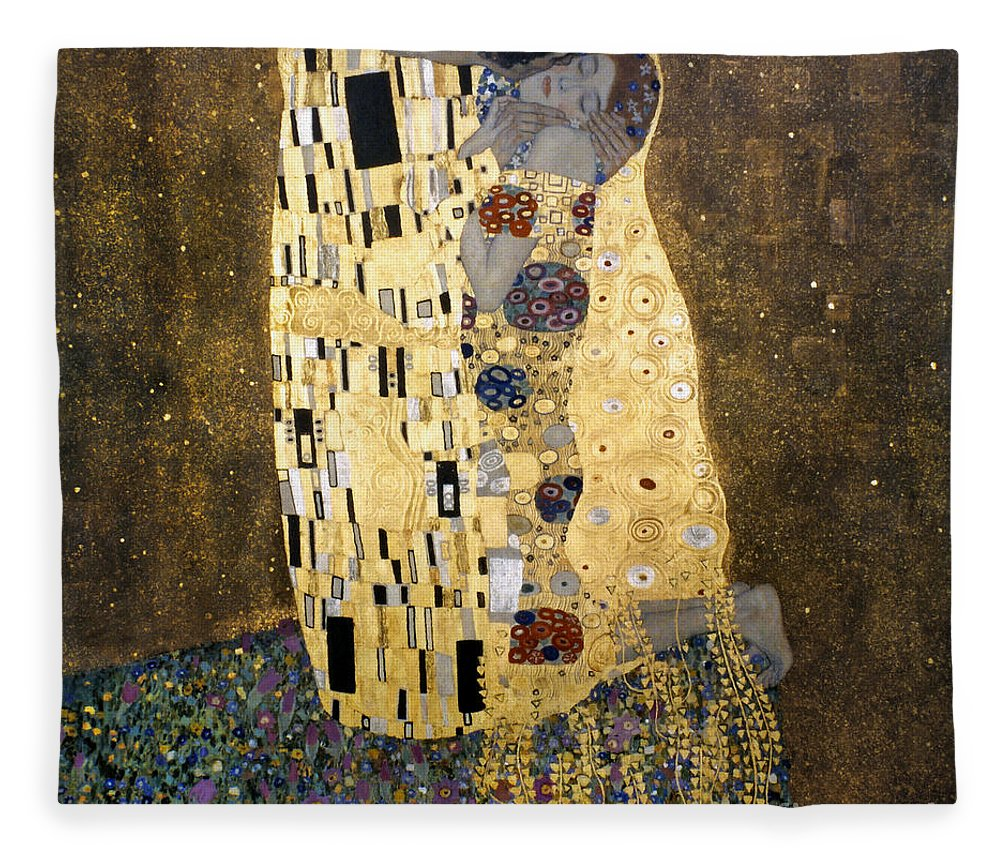 1907 Fleece Blanket featuring the photograph Klimt: The Kiss, 1907-08 by Granger