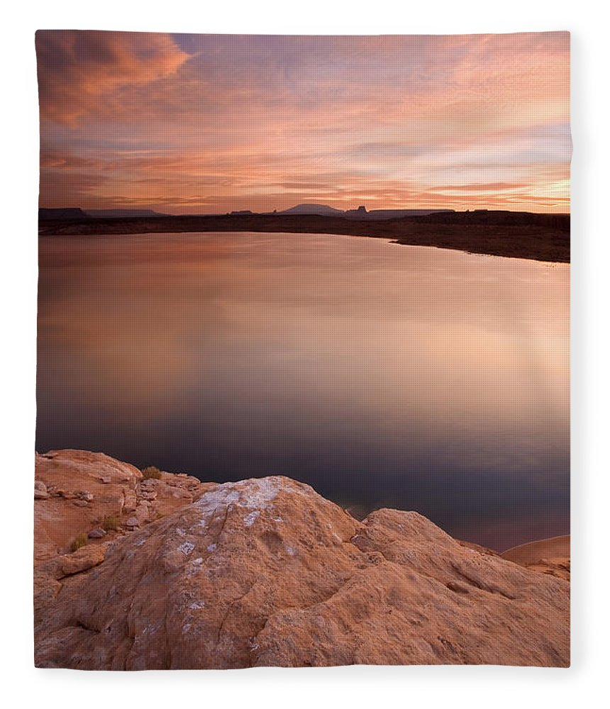 Lake Powell Fleece Blanket featuring the photograph Lake Powell Dawn by Mike Dawson