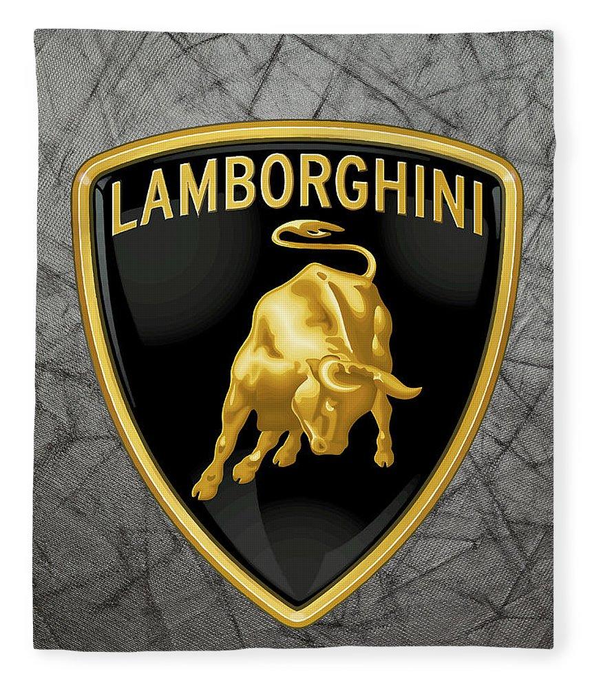 Lamborghini Logo Fleece Blanket for Sale by Daniel Hagerman