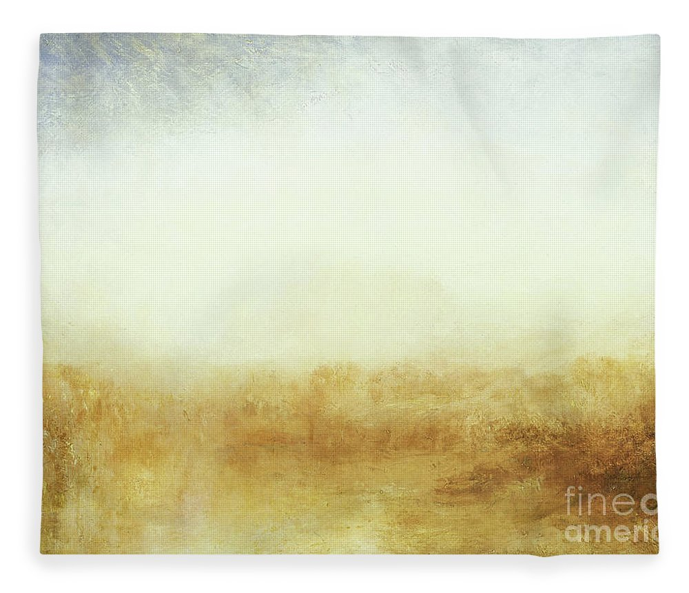 Turner Fleece Blanket featuring the painting Landscape Castle From The Meadows by Joseph Mallord William Turner