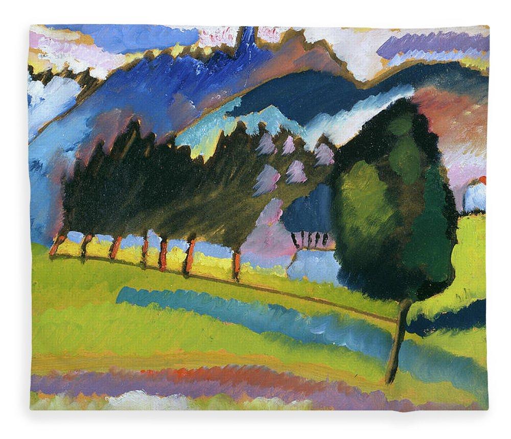 Landscape With Rolling Hills Fleece Blanket For Sale By Wassily Kandinsky