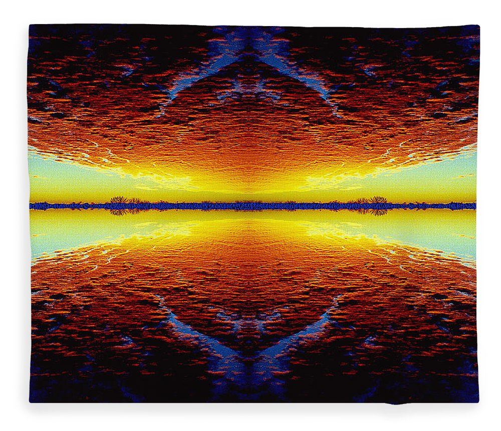 Sunset Fleece Blanket featuring the photograph Last Sunset by Nancy Mueller