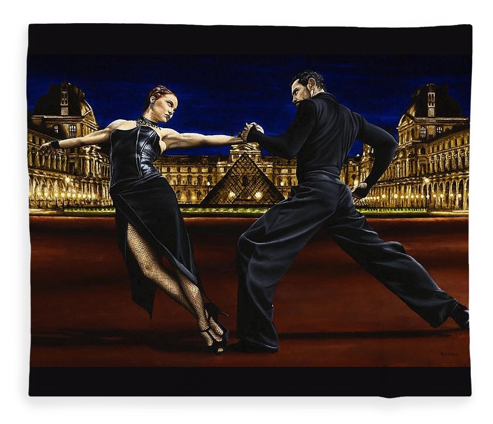 Tango Fleece Blanket featuring the painting Last Tango in Paris by Richard Young