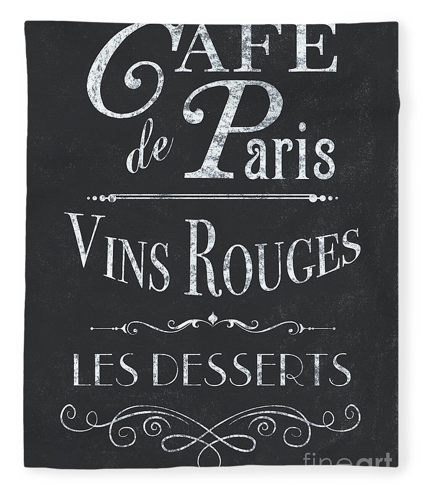 Cafe Fleece Blanket featuring the painting Le Petite Bistro 2 by Debbie DeWitt