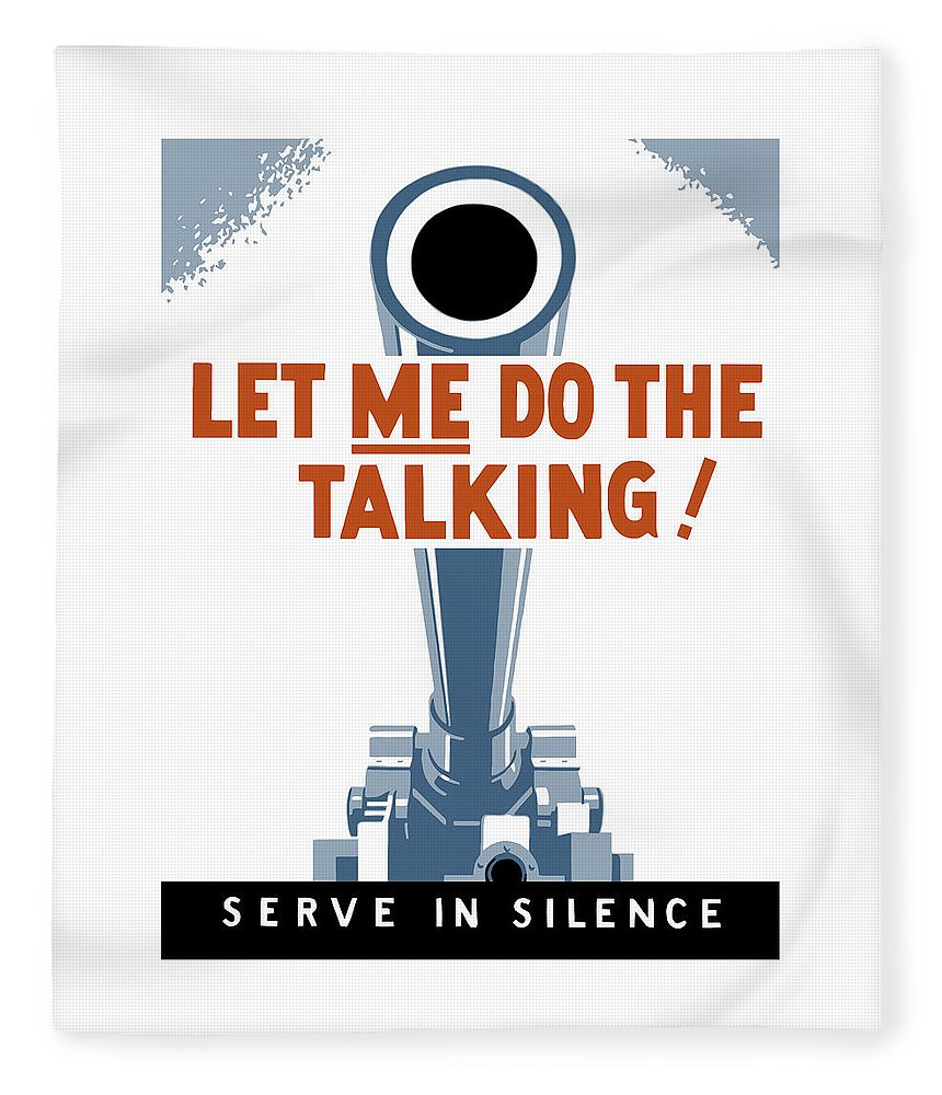 Artillery Fleece Blanket featuring the painting Let Me Do The Talking by War Is Hell Store