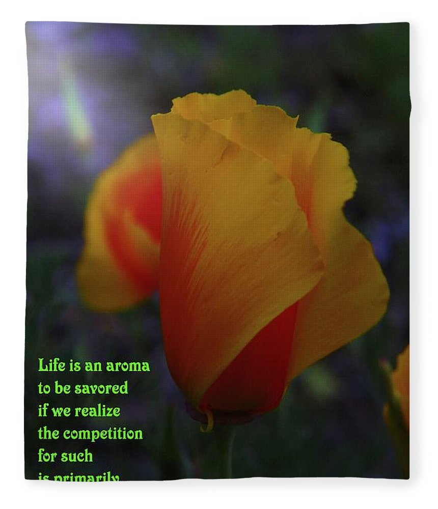 Poppy Fleece Blanket featuring the photograph Life Is An Aroma by Jeff Swan