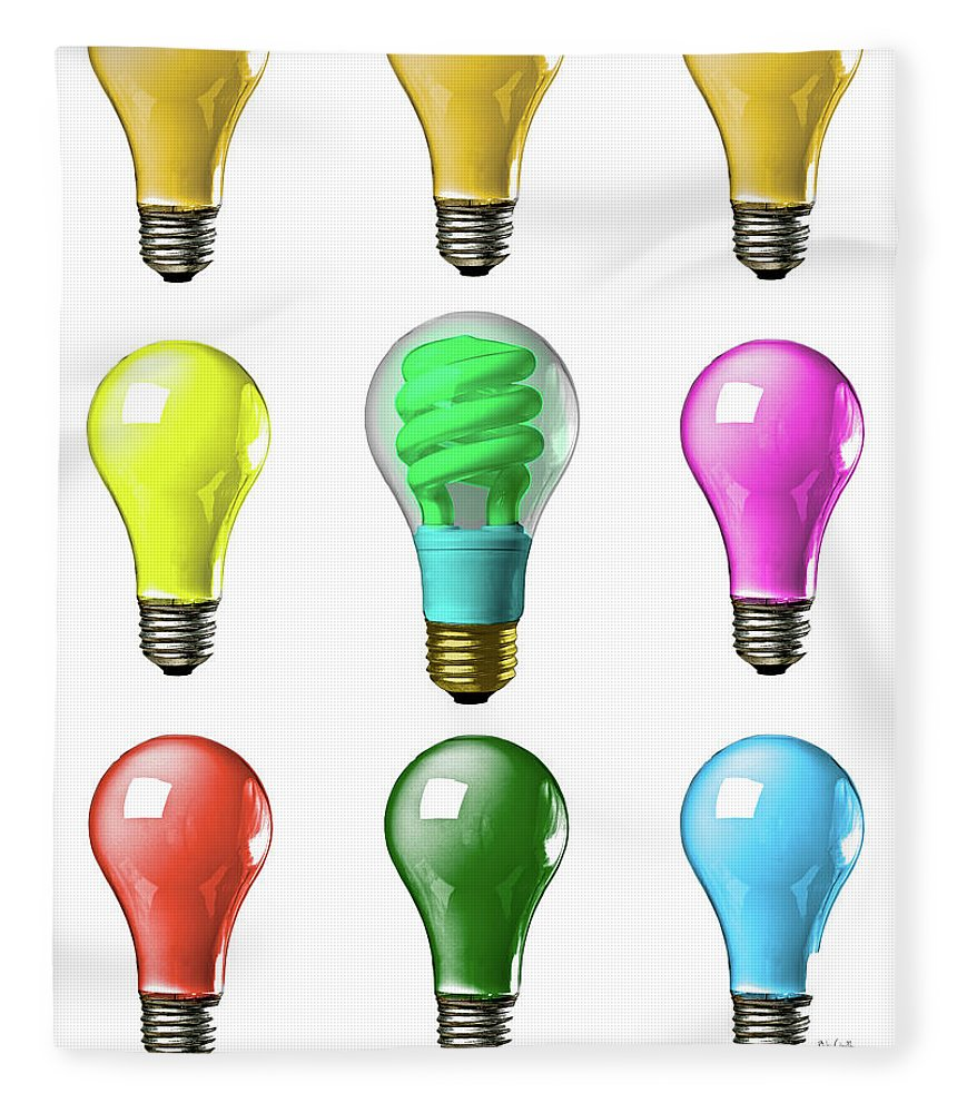 Business Fleece Blanket featuring the photograph Light Bulbs Of A Different Color by Bob Orsillo