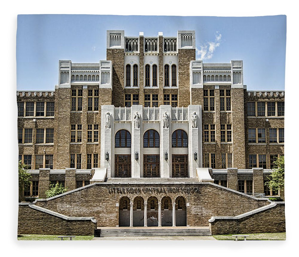 School Fleece Blanket featuring the photograph Little Rock Central High by Stephen Stookey