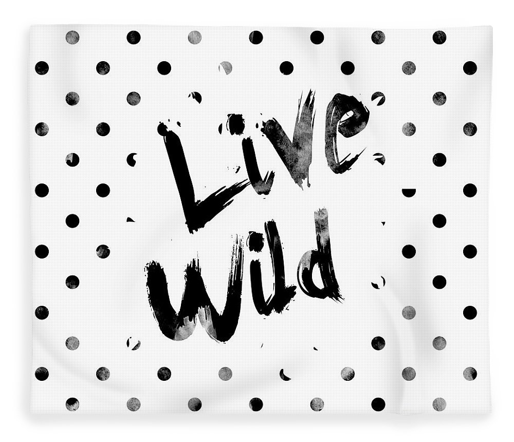 Live Wild Fleece Blanket featuring the digital art Live Wild by Pati Photography