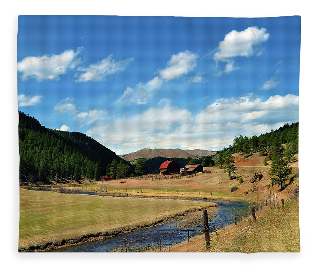 Valley Fleece Blanket featuring the photograph Living In The Valley by Angelina Tamez