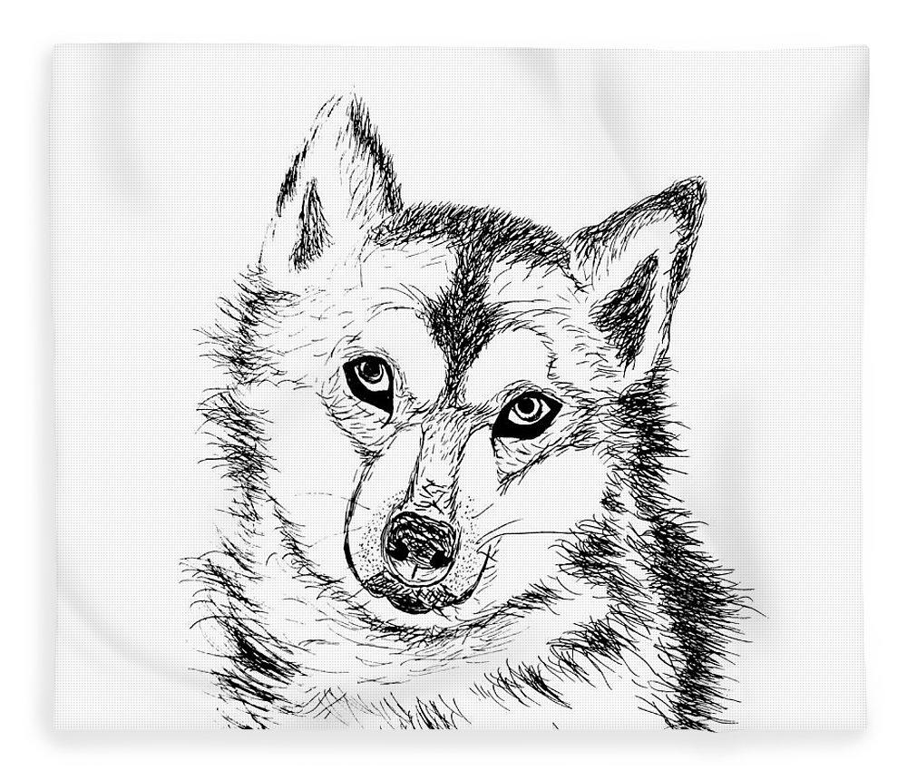 Lone Wolf Fleece Blanket For Sale By Abstract Angel Artist Stephen K