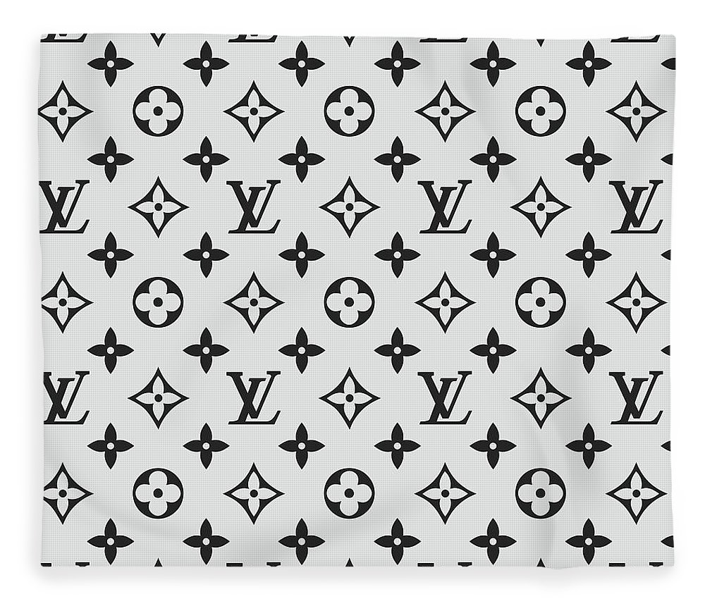 cb1a0d16c7d Louis Vuitton Pattern Lv 07 Grey Fleece Blanket