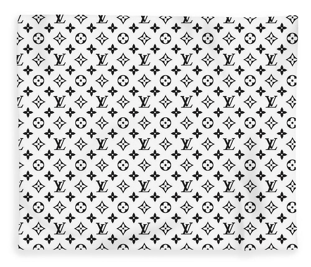 9417a91260849 Louis Vuitton Fleece Blanket featuring the digital art Louis Vuitton Pattern  - Lv Pattern 02 -