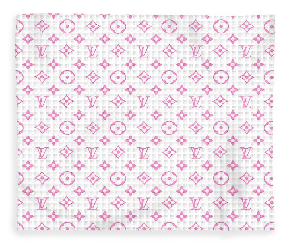 Louis Vuitton Fleece Blanket featuring the digital art Louis Vuitton Pink 7 by Del Art
