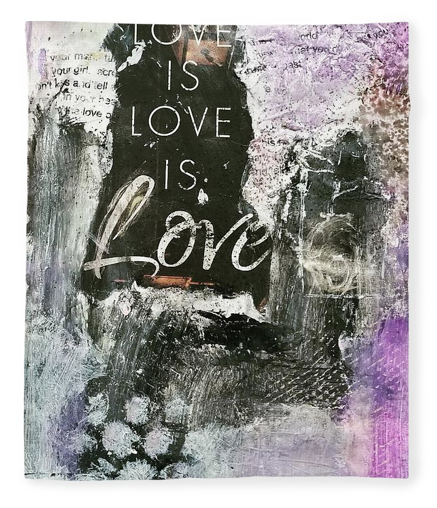 Love Fleece Blanket featuring the painting Love is Love by Patricia Byron