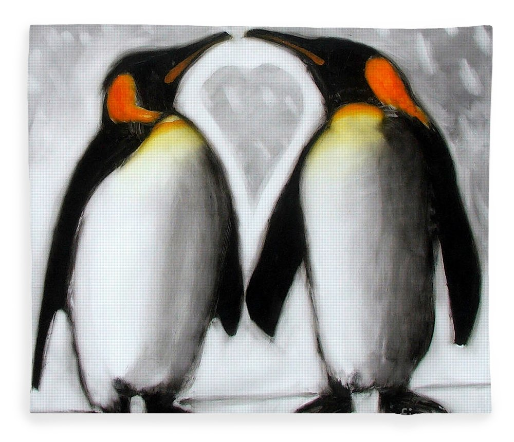 Love Fleece Blanket featuring the painting Love by Paul Powis