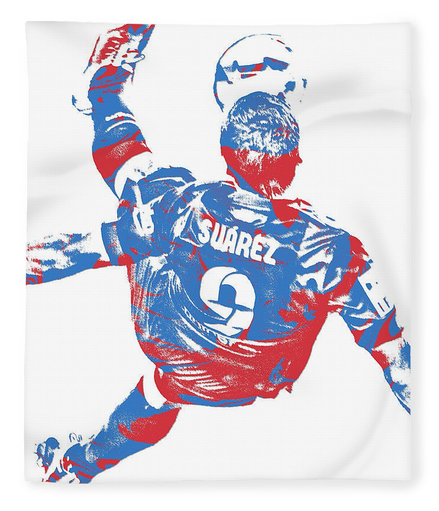 bfa0f38cd Luis Suarez Fleece Blanket featuring the mixed media Luis Suarez F C  Barcelona Pixel Art 5 by