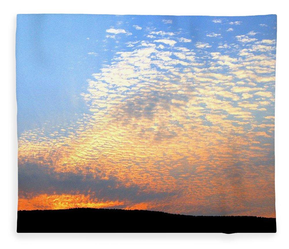 Mackerel Sky Fleece Blanket featuring the photograph Mackerel Sky by Will Borden