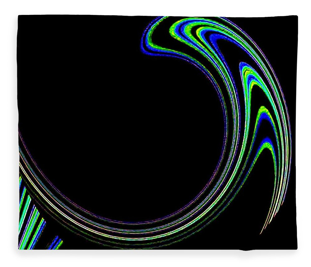 Cosmic Fleece Blanket featuring the digital art Magnetic Forces by Will Borden