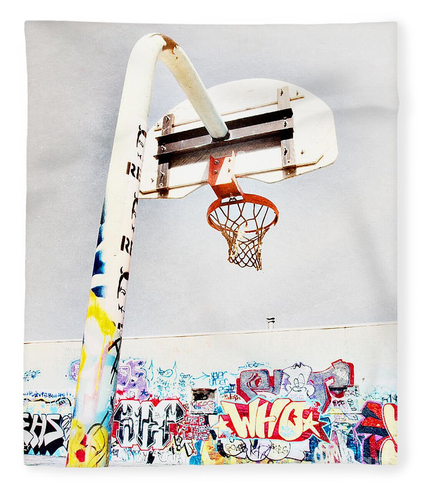 Basketball Fleece Blanket featuring the photograph March 23 2010 by Tara Turner