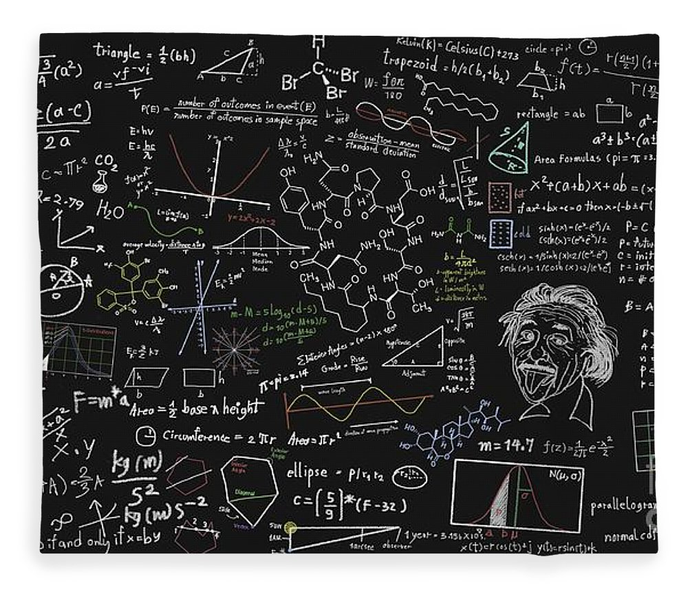 Algebra Fleece Blanket featuring the digital art Maths Formula by Setsiri Silapasuwanchai