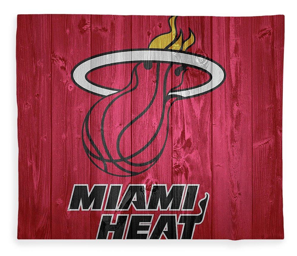Miami Heat Barn Door Fleece Blanket featuring the photograph Miami Heat Barn Door by Dan Sproul