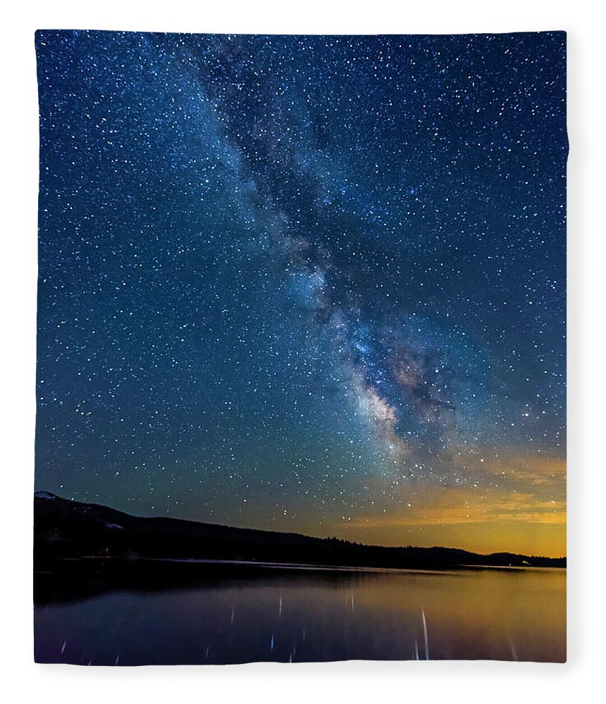 Astrophotography Fleece Blanket featuring the photograph Milky Way 6 by Jim Thompson