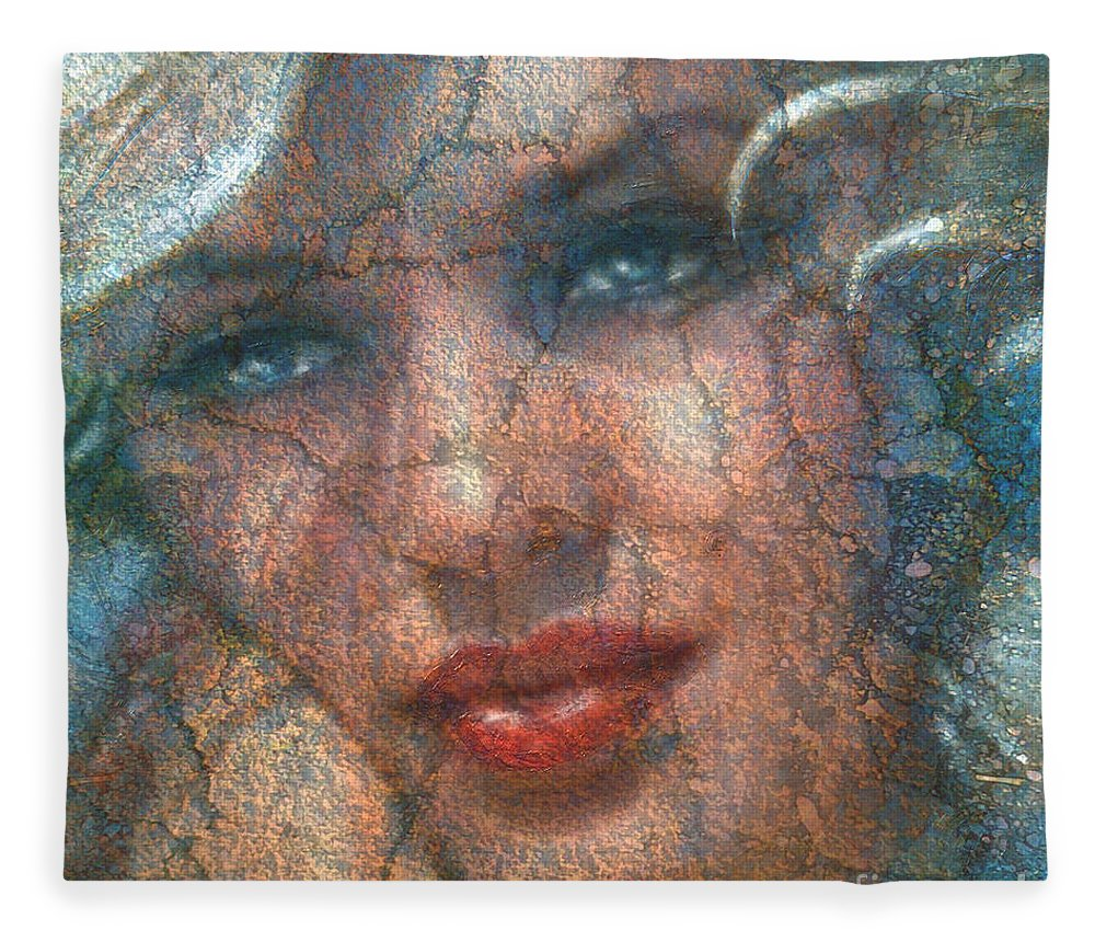 Theo Danella Fleece Blanket featuring the painting Mm 129 A by Theo Danella