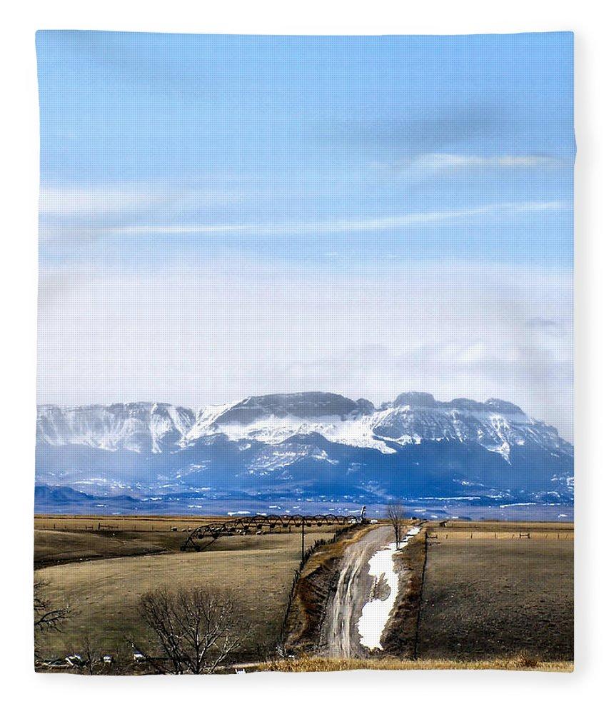 Montana Fleece Blanket featuring the photograph Montana Scenery one by Susan Kinney
