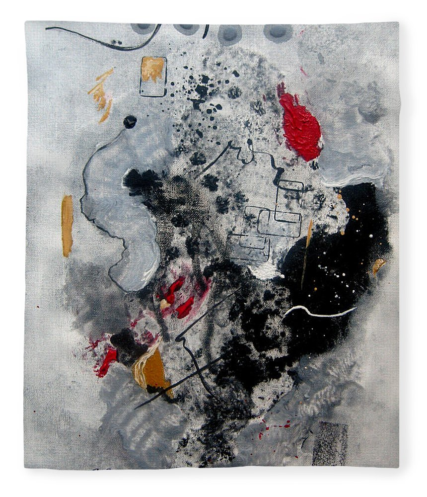 Abstract Fleece Blanket featuring the painting Moods II by Ruth Palmer
