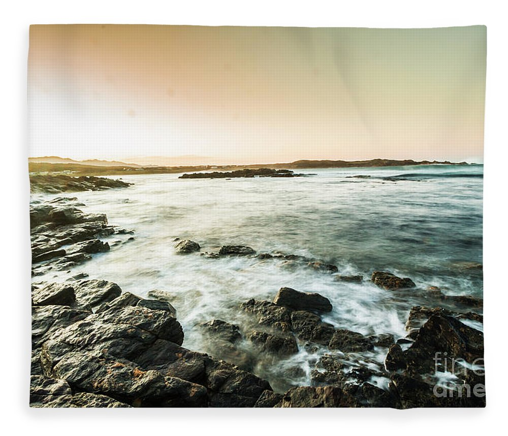 Bay Fleece Blanket featuring the photograph Morning Glow by Jorgo Photography - Wall Art Gallery