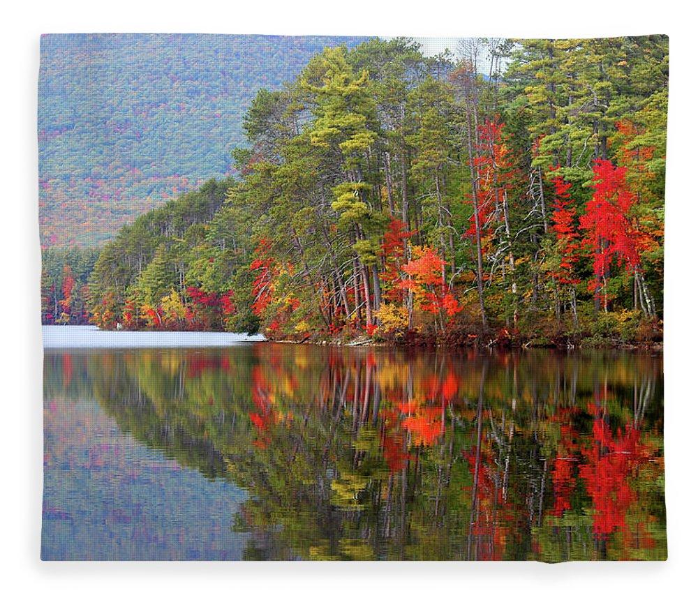 Landscape Fleece Blanket featuring the photograph Mt. Chocorua Reflections II by Lynne Guimond Sabean