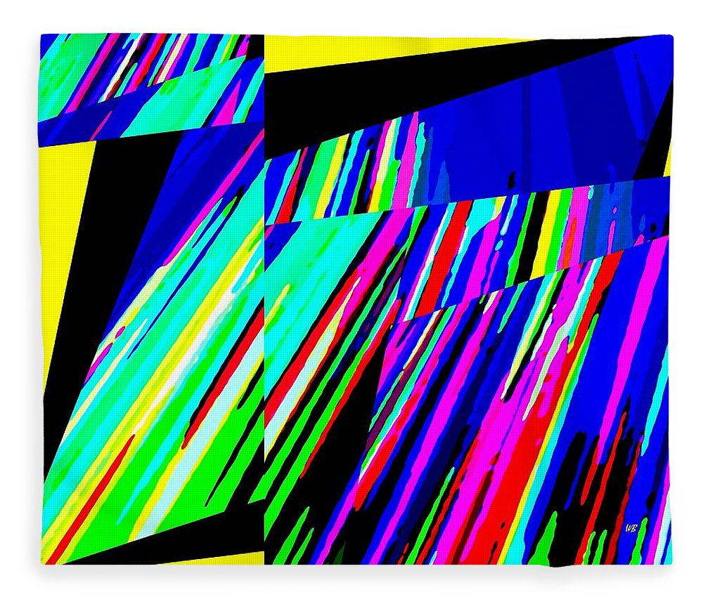 Abstract Fleece Blanket featuring the digital art Muse 5 by Will Borden