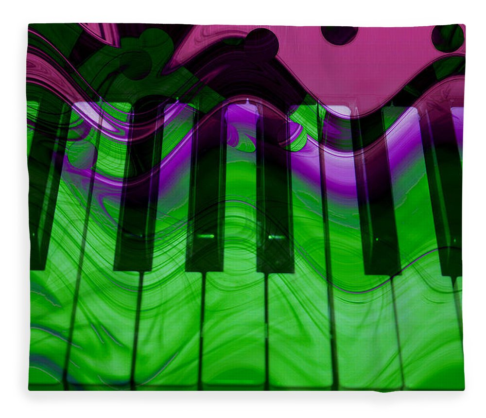 Music In Color Fleece Blanket featuring the photograph Music In Color by Linda Sannuti