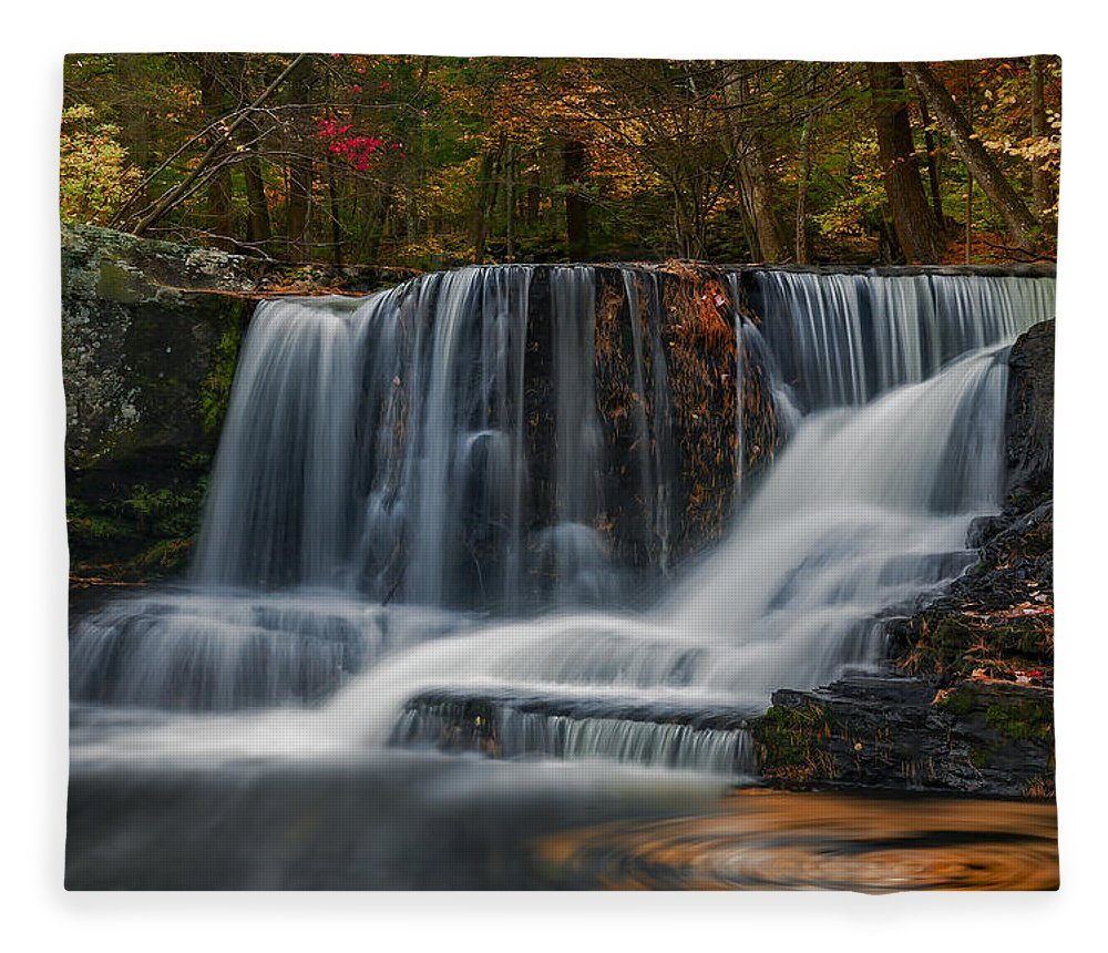 Waterfalls Fleece Blanket featuring the photograph Natures Waterfall And Swirls by Susan Candelario
