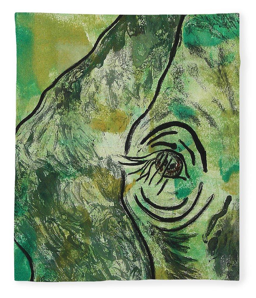 Monotype Fleece Blanket featuring the mixed media Never Forgotten by Cori Solomon