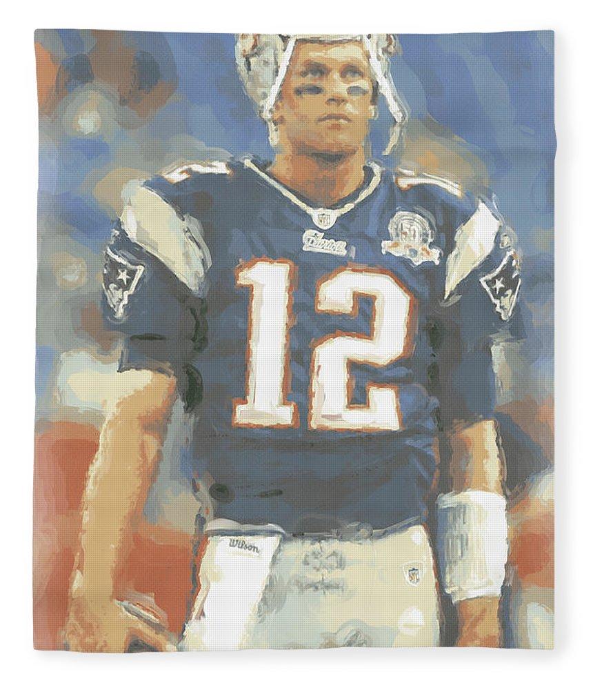 Tom Brady Fleece Blanket featuring the photograph New England Patriots Tom Brady by Joe Hamilton