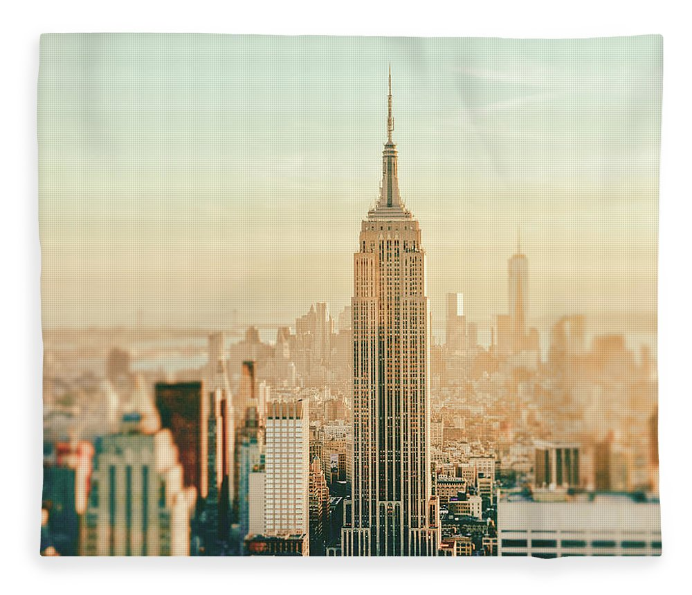 Nyc Fleece Blanket featuring the photograph New York City - Skyline Dream by Vivienne Gucwa