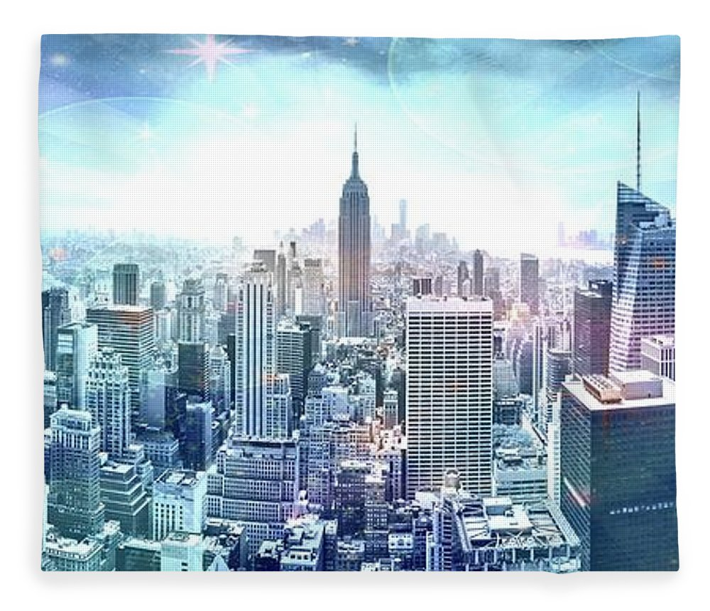 Empire State Building Fleece Blanket featuring the photograph New York Fairytales by Az Jackson