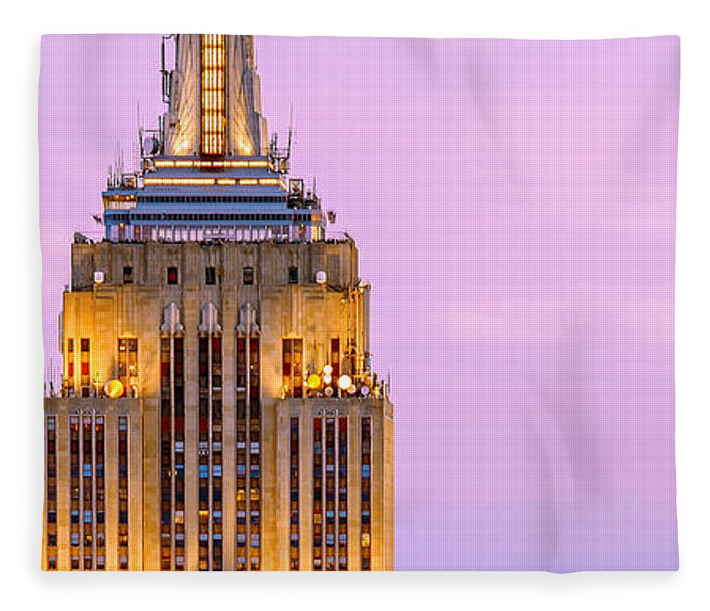 Empire State Building Fleece Blanket featuring the photograph New York Giants by Az Jackson
