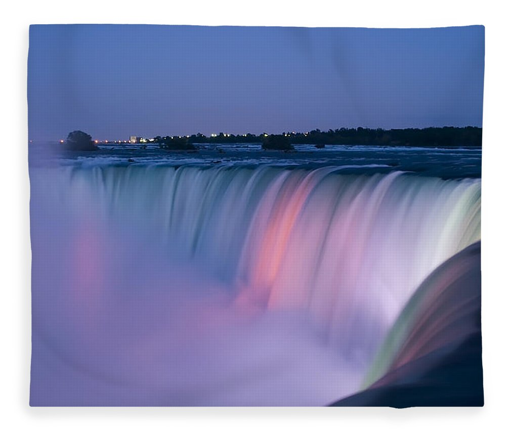 3scape Photos Fleece Blanket featuring the photograph Niagara Falls at Dusk by Adam Romanowicz