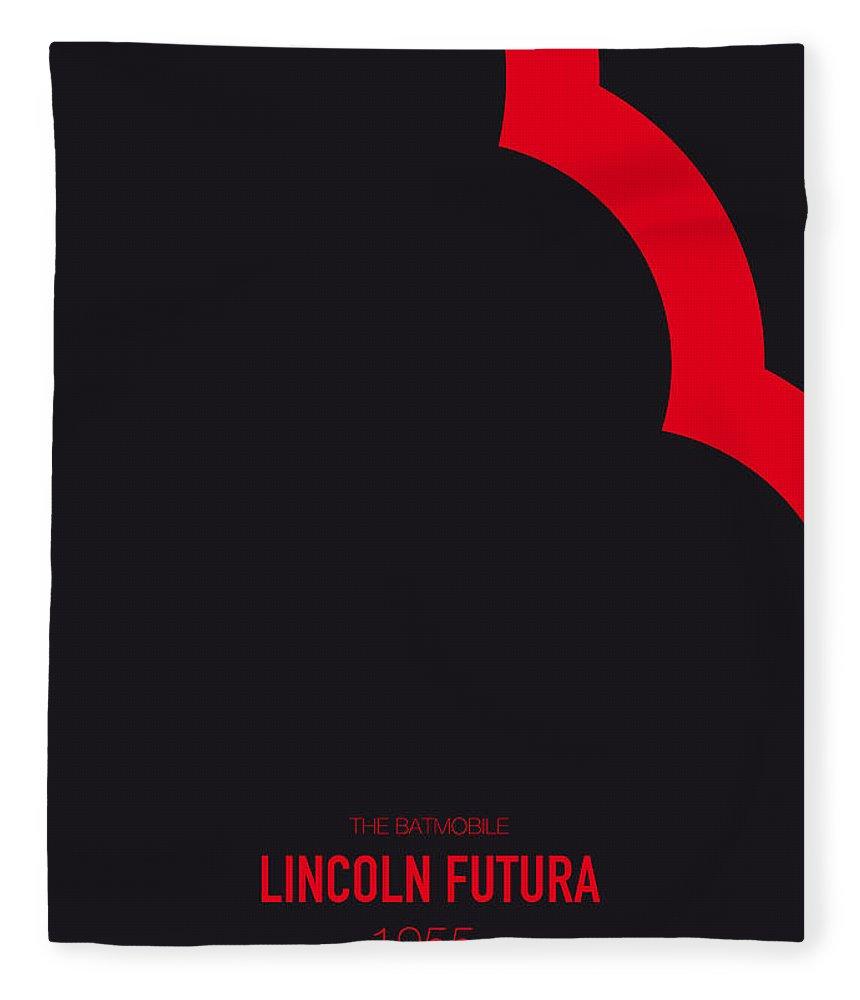 Lincoln Fleece Blanket featuring the digital art No006 My Batmobile Minimal Movie Car Poster by Chungkong Art